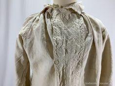 Camisa de lino con pechera trabajada - Foto 1