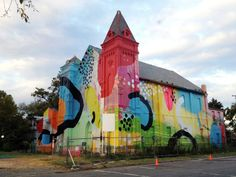 Abandoned Church Becomes Colorful Piece of Street Art | Just Imagine - Daily Dose of Creativity