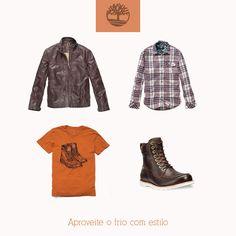 Dica de look Timberland! Acesse já a nossa loja on line e confira esses e outros produtos Timberland com até 60% de desconto! #look #dica #timberland #bota #roupa #estilo.