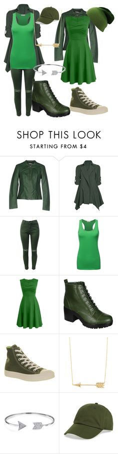 """""""Arrow/Oliver Queen"""" by greenarcherfc ❤ liked on Polyvore featuring Vero Moda, Chicnova Fashion, Breckelle's, Converse, Bling Jewelry and BP."""