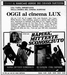 """Rapina: mittente sconosciuto"" (Special Delivery, 1977) di Paul Wendkos, con Bo Svenson e Cybill Shepherd. Italian release: February 27, 1977 #MoviePosters #Noir #CybillShepherd"