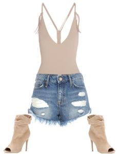 Bodysuits for Women with Snaps Easy Access LOL,Casual Cute Casual Outfit Ideas, Summer, Spring, Fall, 2016, Party, Date Outfit Ideas, What to Wear Style Fashion, Women, Girl, Street Style, Kim Kardashian Style Club Outfit Idea, Kylie jenner Style, Kendal  Jenner Style,Outfit Idea , ripped jean shorts, bodysuit,