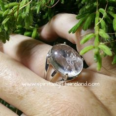Clear Quartz Silver Clarity Ring Adjustable