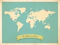 World Map My Roots Map from Children Inspire Design