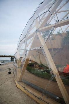 Image 2 of 19 from gallery of Dome of Visions / Kristoffer Tejlgaard + Benny Jepsen. Courtesy of Kristoffer Tejlgaard + Benny Jepsen Veranda Pergola, Geodesic Dome Homes, Geodesic Dome Greenhouse, Dome Structure, Dome House, Earthship, Interior Architecture, Sustainable Architecture, Residential Architecture