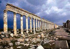 The 145m long Great Colonnade (Cardo Maximus), Apamea