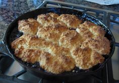 Cast Iron Blackberry Cobbler recipe from Cast Iron Skillet Recipes. Tons of great recipes. I pinned cast iron tips under my Great Ideas board.