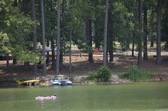 Wind Creek State Park, Alexander City, AL has 1,445 acres of shoreline at Lake Martin (41,000-acre clear-water reservoir). It's the largest state-owned campground in the US, over 600 camping sites, 1/3 are on the water. Features: 7 cabins, hosts professional/ amateur fishing competitions, Indian festivals, skiing/wake-boarding shows, 6 playgrounds, lighthouse, children's activities, geocaches, 2 hiking/ biking trails,  cliff jumping at Chimney Rock  accessible by boat…