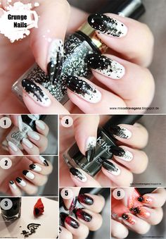 Grunge Nails Tutorial