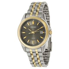 e7e6dfe1630 Seiko Men s Two-tone Stainless Steel and Yellow Goldplated Bracelet Watch