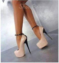 New Arrival #Contrast Colour #Platform #Prom Shoes
