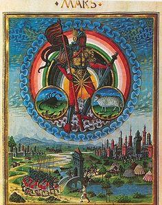 Mars god of war -De Sphaera ~ 15th century