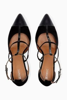 Buy T-Bar Caged Pointed Shoes from the Next UK online shop
