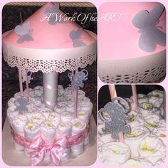 1 Tier Carousel Diaper Cake