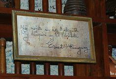 My mojito in La Bodeguita  My daiquiri in El Floridita   - E. Hemingway -