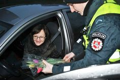 For the last couple of years, during International Women\'s Day, instead of giving ladies a ticket, Lithuanian officers hand women flowers to celebrate the occasion.