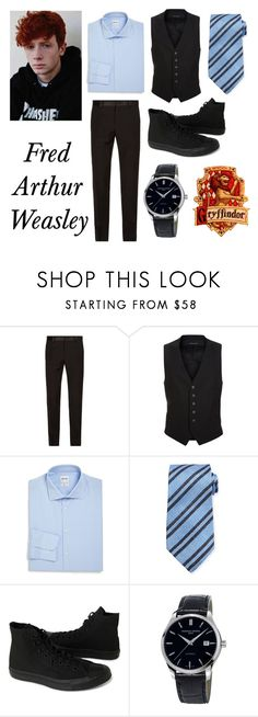 """""""Yule Ball"""" by poizell ❤ liked on Polyvore featuring Dolce&Gabbana, Tom Ford, Armani Collezioni, Kiton, Converse and Frédérique Constant"""
