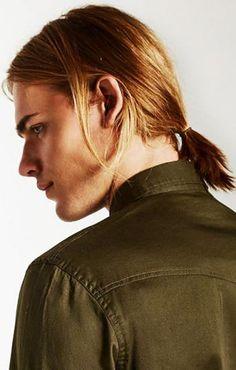 20 beliebte Männer lange Pferdeschwanz, Glattes Haar, Lang, Pitt, Männer, Hunnam, Hemsworth, Charlie