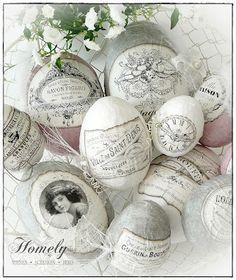 Vintage advertising label eggs