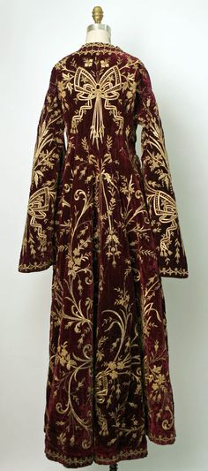 Robe Date: mid-19th century Culture: Turkish Medium: silk, cotton, metallic