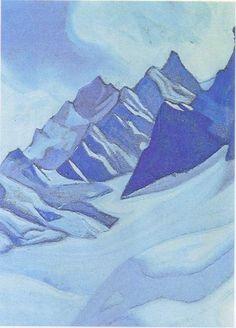 Glacier - Nicholas Roerich (1874-1947, Russia)
