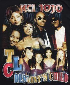 Vintage 90's Rap T-Shirt - K-Ci & JoJo, TLC, and Destiny's Child