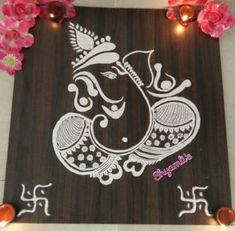Rangoli Designs 2017 for Diwali Festival - Diwali 2017 Simple Rangoli Border Designs, Rangoli Designs Latest, Rangoli Designs Flower, Free Hand Rangoli Design, Small Rangoli Design, Rangoli Ideas, Rangoli Designs Diwali, Diwali Rangoli, Rangoli Designs With Dots