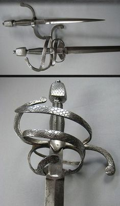 Rapier and Left-hand Dagger      Dated: circa 1600     Culture: German  Sword, rapier, with left hand