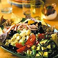 Cobb Salad--We've given the Cobb Salad a Southwest twist by adding jalapeño jack cheese and a sour cream-salsa dressing.