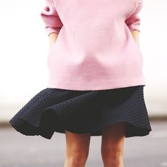pink and black #fashion #style #details