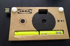IKEA's nifty cardboard camera isn't just for looks, it's fully-functional and has an integrated USB connector.
