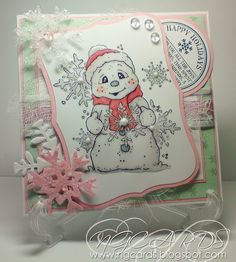 NGCARDS: Magnolia Frosty the Snowman with Snowflake!