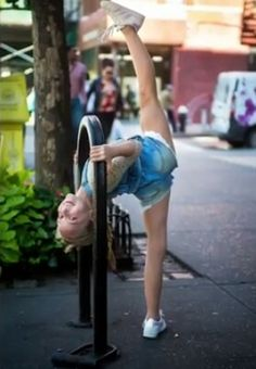 Gymnastics in public!
