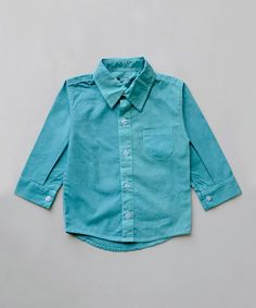 Loving this Teal Button-Up - Infant, Toddler & Boys on #zulily! #zulilyfinds
