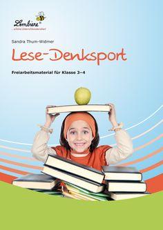 """Lesen – damit ist hier das Sinn entnehmende Lesen gemeint – sollte auf vielfältige Art und Weise in der Grundschule geübt und automatisiert werden. Spannende, verschiedenartige Texte sind gefragt, damit Lesemotivation entstehen kann und erhalten bleibt. Das Material """"Lese-Denksport"""" verknüpft das Training des Sinn entnehmenden Lesens mit Knobel- und Denkaufgaben, die zum Tüfteln anregen. #Lernbiene #Grundschule #Unterrichtsmaterial #Deutsch #Lesen"""