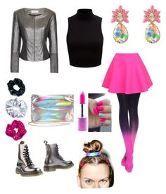 Zenon, girl of the 21st century by brit-mcdonough on Polyvore featuring Forever New, UNIF, Dr. Martens, SHOUROUK, VidaKush, O-Mighty and Lime Crime