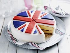 Cake! Being British means we can have our flag and eat it too :)
