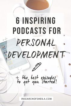 6 Inspiring Podcast for Personal Development. Personal growth tips. Self improvement. Self improvement ideas. Self improvement tips. Ted Talks, Self Development, Personal Development, Professional Development, Beste Podcasts, Podcasts Best, Motivation Poster, Blogging, Improve Yourself