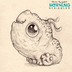 Lumpy pup...   #morningscribbles   출처: CHRIS RYNIAK