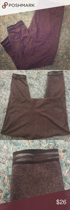 Victoria secret sport leggings Cropped gray VS leggings with cute mesh at the bottom. Worn once. Extremely comfortable. No trades Victoria's Secret Pants Capris