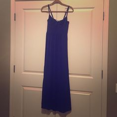 Victoria's Secret cotton maxi- bra size 34d Worn once- built in support maxi dress. Cup size 34d. Navy coloring. ☀️ Victoria's Secret Dresses Maxi