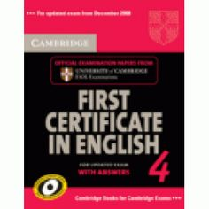 Cambridge First Certificate in English 4 with answers + CD Audio
