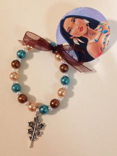 8  Pocahontas Charm Bracelet With Ribbon Tag by MichelleAndCompany, $22.00