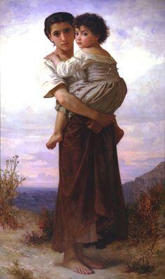 William Adolphe Bouguereau (William Bouguereau) (1825-1905)  Jeunes Bohemiennes  Oil on canvas  1879