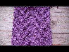 Cable Knitting, Knitting Videos, Knitting Stitches, Crochet Designs, Lana, Stitch Patterns, Knitting Patterns, Knitting And Crocheting, Diy And Crafts