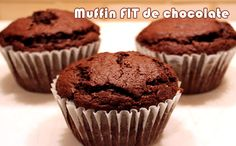 Muffin de chocolate - Receitas Fit #receitas #receitasfit #muffin #fitness #dieta #academia