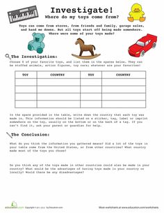 Worksheets: Introduction to Research: Your Toys! This might work as a co-curriculur activities to incorporate writing into social studies. Social Work Research, Toy Story Theme, 5th Grade Reading, Fun Worksheets, School Programs, Educational Toys, Homeschool, Teaching, Activities