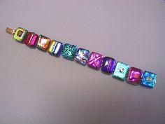 Dichroic Confetti Bracelet: Full Spectrum Rainbow!