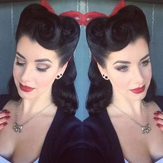 Trendy Vintage Wedding Hairstyles Updo Victory Rolls, 39 Trendy Vintage Wedding Hairstyles Updo Victory Rolls, 39 Trendy Vintage Wedding Hairstyles Updo Victory Rolls, 21 Thoughts Every Girl Has While Getting Her Hair Cut Vintage Hairstyles Tutorial, Retro Hairstyles, Wedding Hairstyles, Victory Rolls, Pin Up Hair, Hair Cut, Pinup Girl Clothing, Vintage Wedding Hair, How To Curl Your Hair