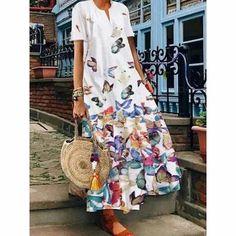 Elegant party dress may21 Shift Dresses, Maxi Dresses, Floral Dresses, Elegant Party Dresses, Casual Dresses, Vestidos Color Blanco, Orange Gris, Manga Floral, Floryday Vestidos